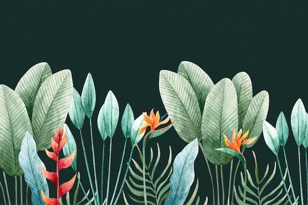 Тропические листья фон