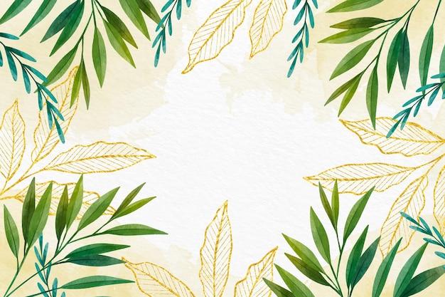 Фон тропических листьев