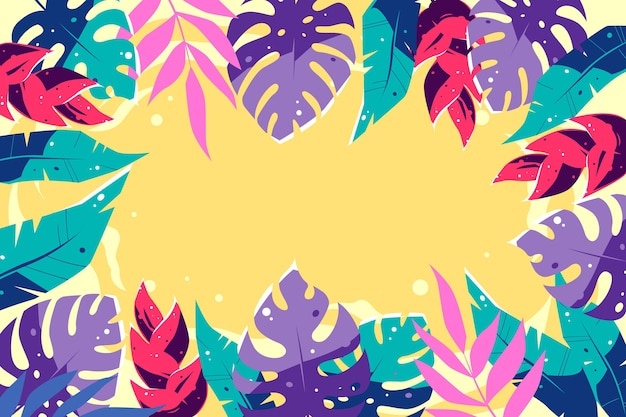 Tropical leaves design background