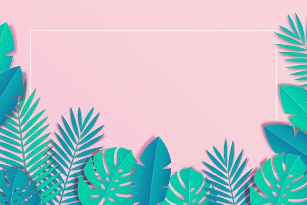 Тропические листья в бумажном стиле