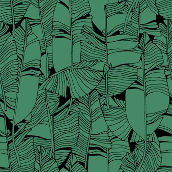 Tropical leaves jungle pattern