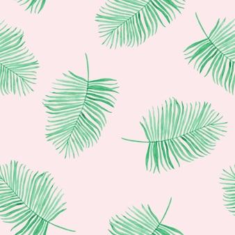 열 대 잎 패턴