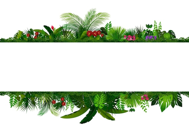 Tropical leaves rectangle