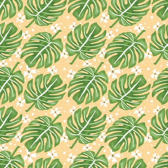 Tropical leaves repeat pattern