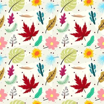 Тропические листья бесшовный фон фон