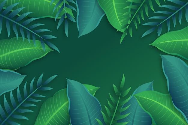 熱帯の葉の壁紙のコンセプト