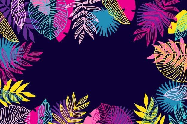 Тропические листья обои концепция