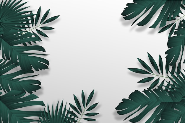 Tropical leaves wallpaper design