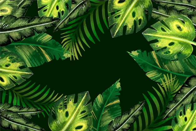 熱帯の葉の壁紙スタイル