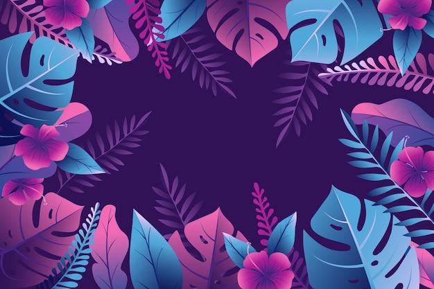 Тропические листья тема обоев
