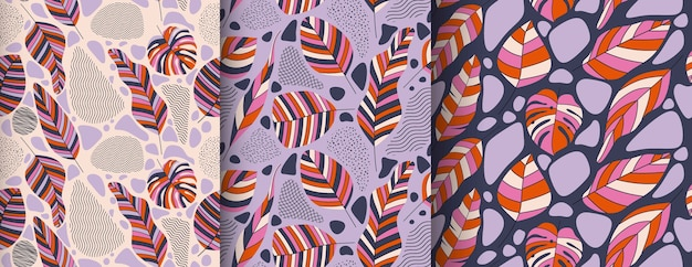 Tropical leavess pattern