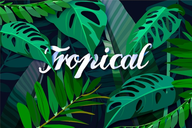 Tropical lettering style