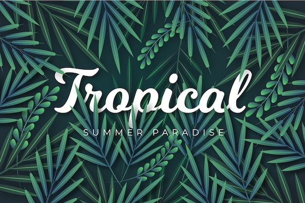 Tropical lettering theme