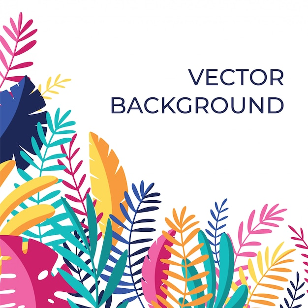 Tropical media background