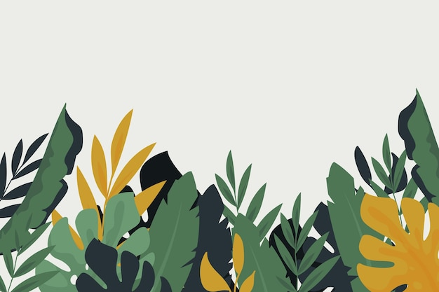 Tropical mural background