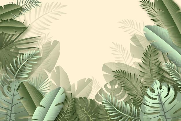 熱帯の壁画の背景