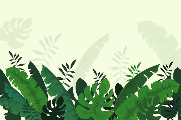 熱帯の壁画の壁紙デザイン