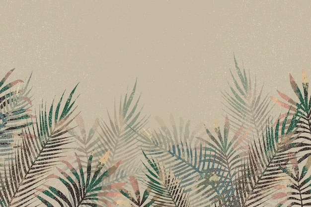Tropical mural wallpaper with empty space