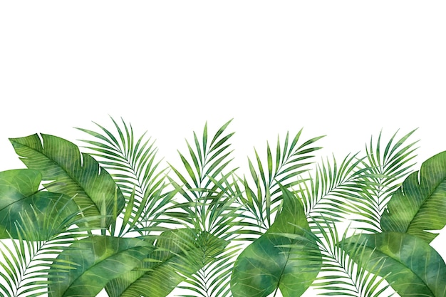 Tropical mural wallpaper