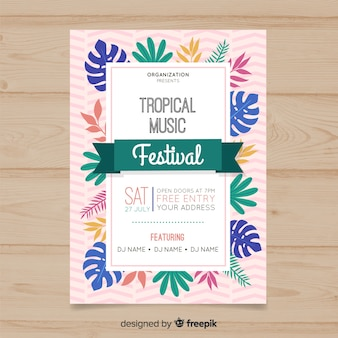 Tropical music festival poster