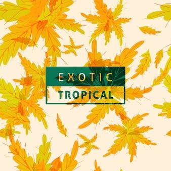 Tropical oak leaves pattern