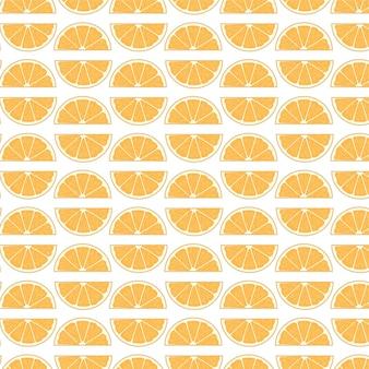 トロピカルオレンジハーフスライスシームレスパターン背景