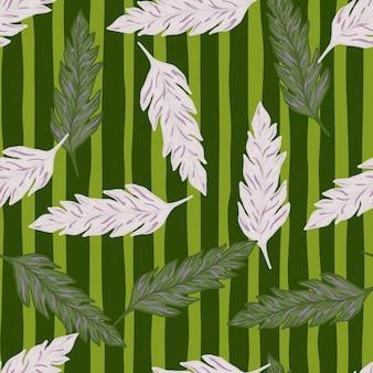 열 대 야자수 잎 완벽 한 패턴입니다. 이국적인 나뭇잎 장식. 단풍 배경
