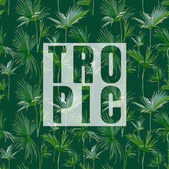 Тропические пальмовые листья экзотический фон