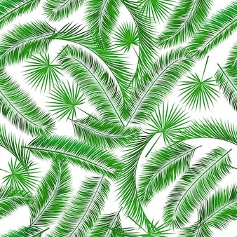Tropical palm tree seampless pattern background template