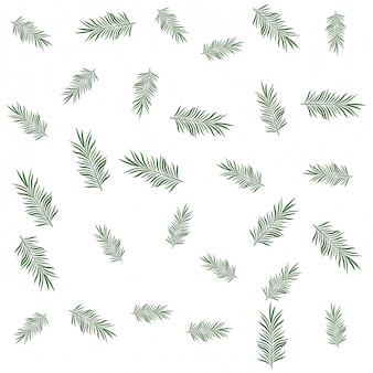 Tropical palms leaves pattern background