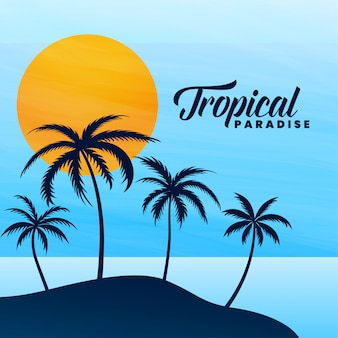 Tropical paradise summer card