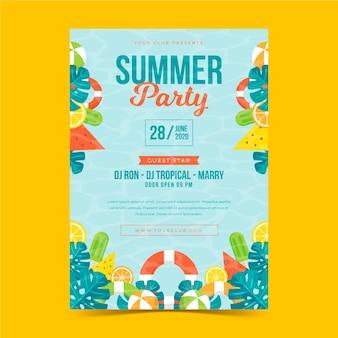 Дизайн плаката для тропической вечеринки