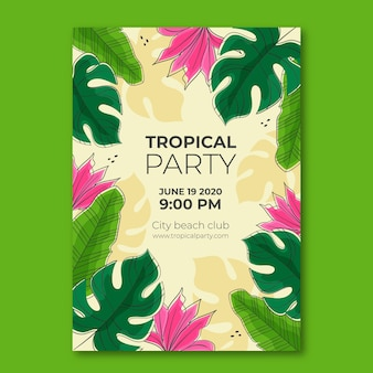 Tropical party poster