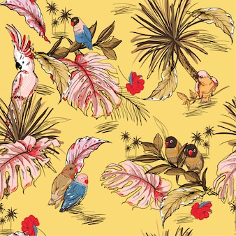 Tropical pattern background
