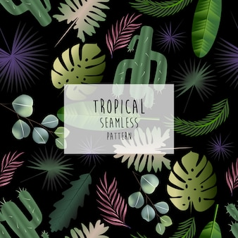 Tropical pattern, seamless pattern