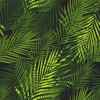Tropical pattern, vector botanical background