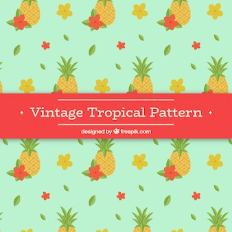 Tropical pattern in vintage style