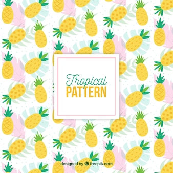 Tropical pattern with pineapples