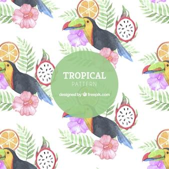 Тропический узор