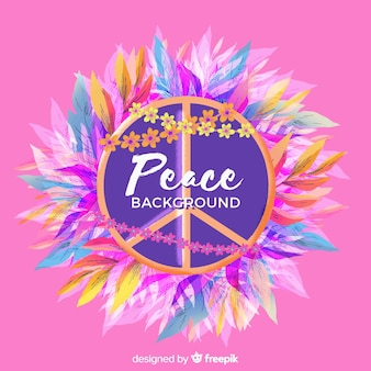 Tropical peace sign background