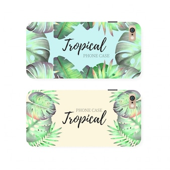Tropical Phone Case Template