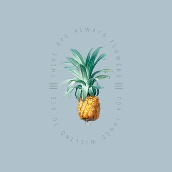Tropical pineapple badge