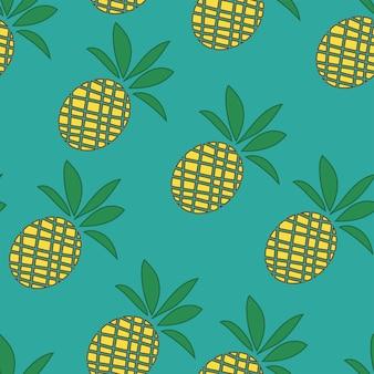 Фон тропических ананасов - бесшовные модели - модный летний простой векторный символ для дизайна веб-сайта - минимализм
