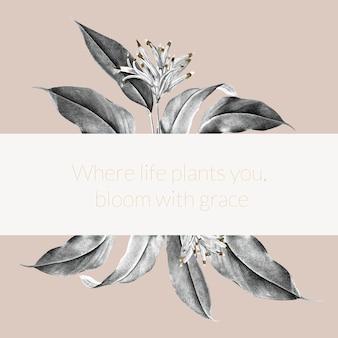 Иллюстрация баннера тропического растения