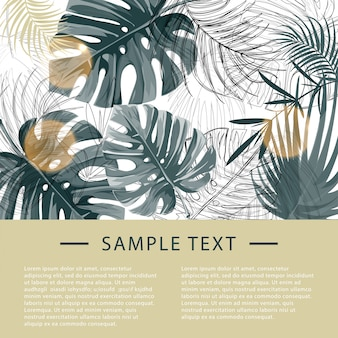 Tropical plants design template.