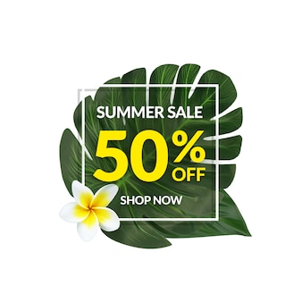 Tropical sale banner