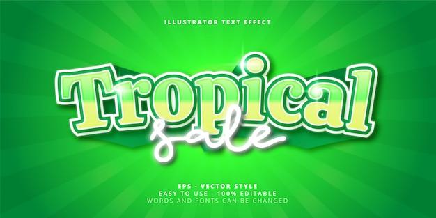 Редактируемый текстовый эффект «тропическая распродажа»