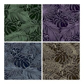 エキゾチックな葉の熱帯のシームレスな自然のパターン