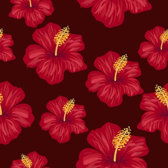 Tropical seamless pattern design template
