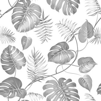 Tropical seamless pattern. palm.
